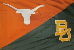 Texas Baylor House Divided Flag